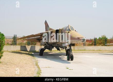 Mig 23 soviet era jetfighter - Stock Photo