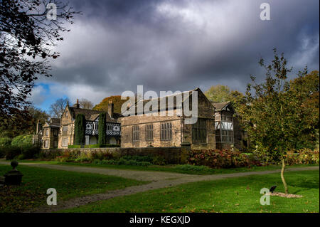 Smithills Hall, Bolton, Lancashire. Picture by Paul Heyes, Tuesday October 17, 2017. - Stock Photo