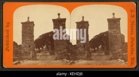 City gate. St. Augustine, Fla, from Robert N. Dennis collection of stereoscopic views 2 - Stock Photo