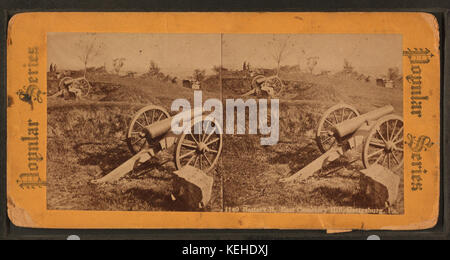 Battery B, East Cemetery Hill, Gettysburg, Pa, from Robert N. Dennis collection of stereoscopic views - Stock Photo