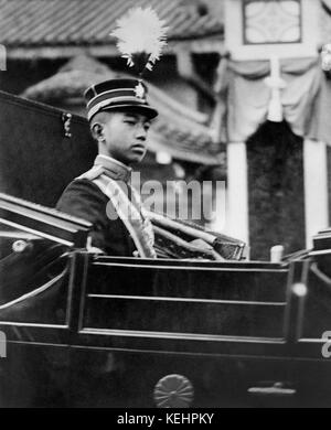 Hirohito,future Emperor of Japan,Portrait Seated in Car,1918