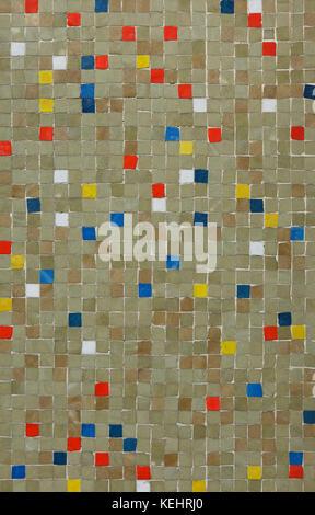 Coloured mosaic tiles. Background texture. - Stock Photo