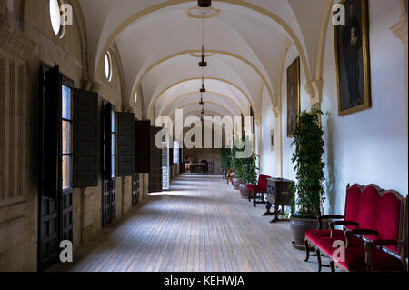 Casa de Canonigos within Hotel Real Colegiata San Isidoro in Leon, Castilla y Leon, Spain - Stock Photo