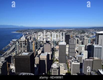 View of Seattle from the 73rd floor of the Sky View
