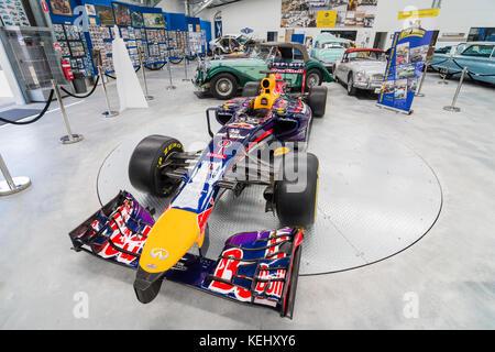 Daniel Ricciardo's Red Bull Formula 1 racing car on display at the Motor Museum of WA, Whiteman Park in the Swan - Stock Photo