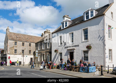 The Reel cafe on Broad Street in the town centre, Kirkwall, Mainland, Orkney, Scotland, UK - Stock Photo