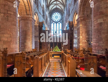 Interior of St Magnus Cathedral, Kirkwall, Mainland, Orkney, Scotland, UK - Stock Photo