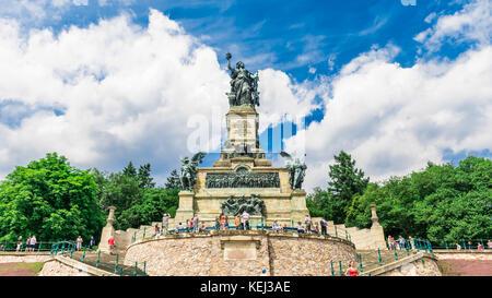 Niederwalddenkmal Monument, Rudesheim am rein, Hesse, Germany - Stock Photo
