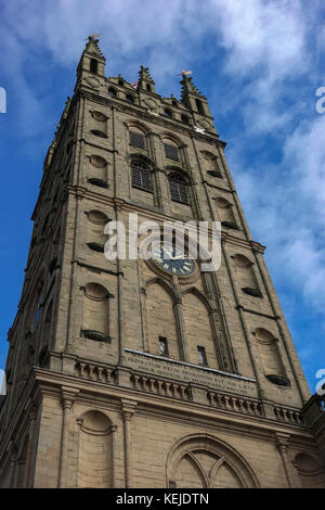 Collegiate Church of St Mary's Tower, Warwick -1 - Stock Photo