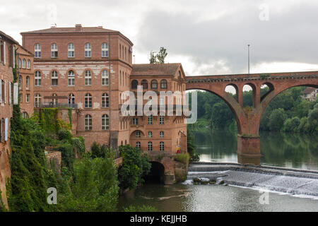 View of the Episcopal City of Albi and the River Tarn. Albi, France - Stock Photo