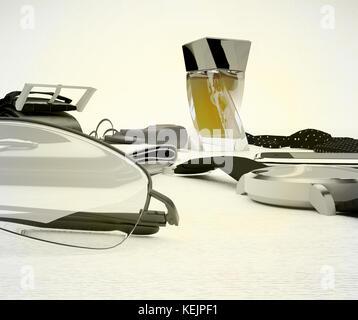 Gentleman kit - men's fashion accessories on light background. - Stock Photo