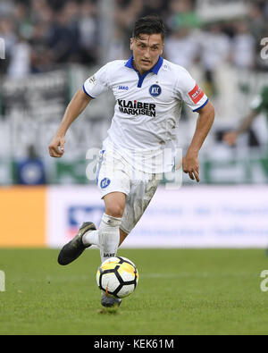 Muenster, Deutschland. 21st Oct, 2017. Marcel Mehlem (KSC). GES/ Fussball/ 3. Liga: Preussen Muenster - Karlsruher - Stock Photo