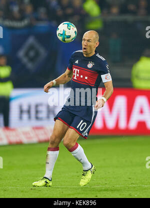Hamburg, Germany. 21st October, 2017. 1. Div German Soccer League, Hamburg, October 21, 2017 Arjen ROBBEN, FCB 10 - Stock Photo