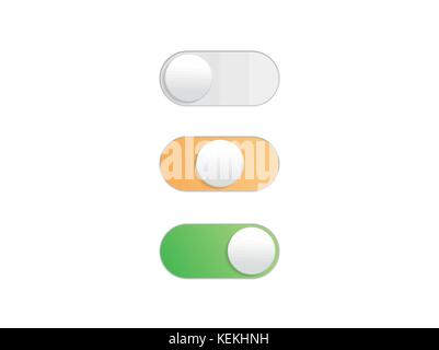 Professional gradient On Off Toggle switch button vectorformat - Stock Photo