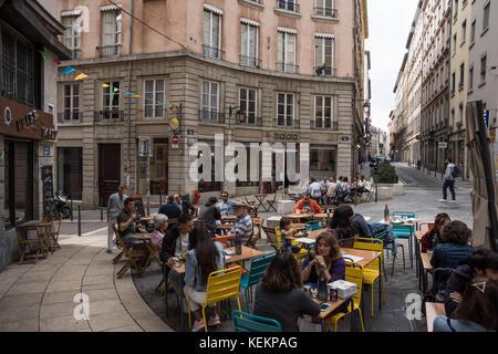 Lyon, 1. Arrondissement, Rue des Capucins - Stock Photo