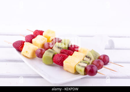fruit skewer - Stock Photo