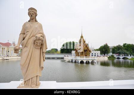 Thai Royal Residence at Bang Pa-In Royal Palace in Ayutthaya, Thailand. - Stock Photo