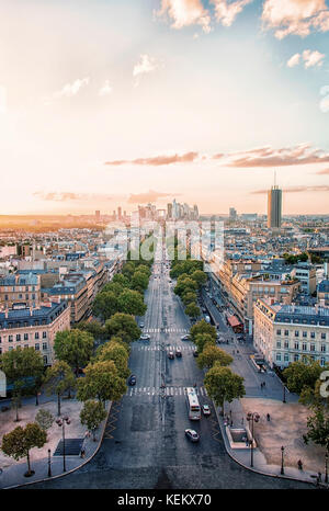 La Defense, business district in Paris - Stock Photo