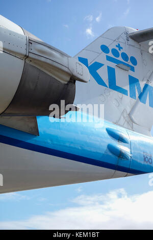 Klm Aircraft On Roof Of Panorama Terrace At Amsterdam