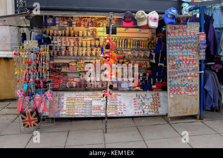 Souvenir Shop in London - Stock Photo