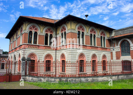 Crespi d'Adda, a historic settlement in Lombardy, Italy, and a great example of the 19th-century company towns built - Stock Photo