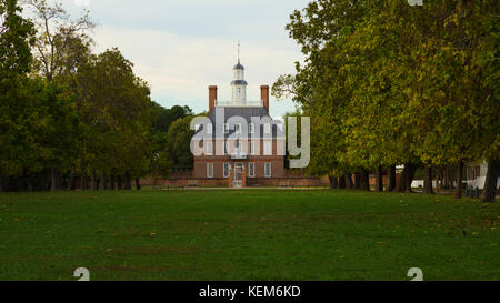 Governors Palace at Colonial Williamsburg - Stock Photo