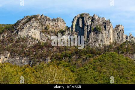 Senaca Rocks in West Virginia USA - Stock Photo
