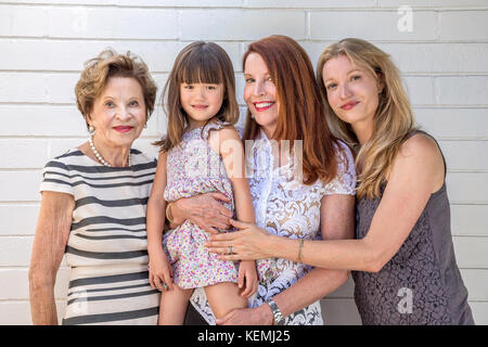 Four generations of female family - Stock Photo