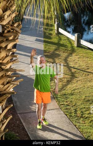 Active Senior Male Runner - Stock Photo