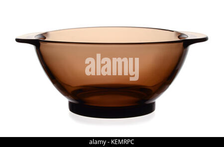 Glass bowl isolated on white background - Stock Photo