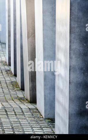 Memorial to the Murdered Jews of Europe Denkmal für die ermordeten Juden Europas. Berlin, Germany - Stock Photo