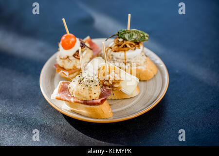 Set of pinchos on the table - Stock Photo