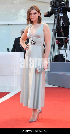 Silvia Busuioc attends the premiere for Mother during the 74th Venice Film Festival in Venice, Italy. 5th September - Stock Photo