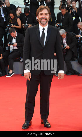 Spanish actor Javier Bardem attends the premiere for Mother during the 74th Venice Film Festival in Venice, Italy. - Stock Photo