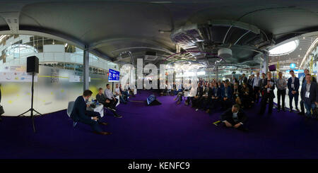 People attend Open Innovations 2017 forum - Stock Photo