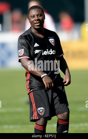 Washington, DC, USA. 22nd Oct, 2017. 20171022 - Former D.C. United player FREDDY ADU is seen during the D.C. United - Stock Photo