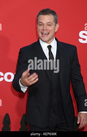 Los Angeles, CA, USA. 22nd Oct, 2017. Matt Damon at arrivals for SUBURBICON Premiere, The Regency Village Theatre, - Stock Photo