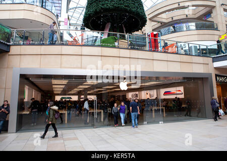 Apple Store in Trinity Leeds in West Yorkshire, England - Stock Photo
