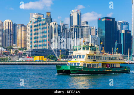 Ferry at Darling Harbour in Sydney - Stock Photo