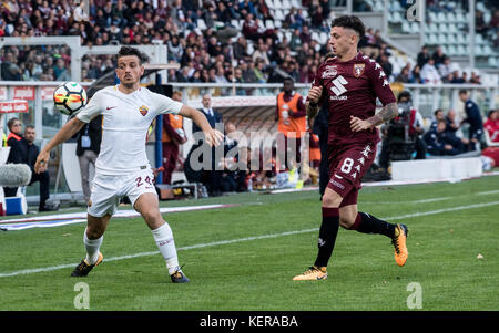 Turin, Italy. 22nd Oct, 2017. Alessandro Florenzi(AS Roma) during the serie A match: Torino FC vs AS Roma at stadio - Stock Photo