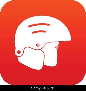 Snowboard helmets icon digital red - Stock Photo