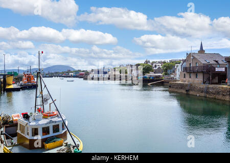 The harbour in Stromness, Mainland, Orkney, Scotland, UK - Stock Photo