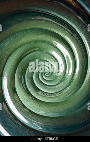 Close-up of swirly pattern in a bowl - Stock Photo