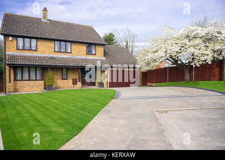 large detached house south east England - Stock Photo