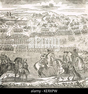 The Battle of Culloden, 16 April 1746 - Stock Photo