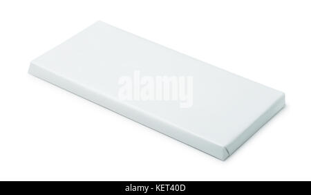 Blank paper chocolate package isolated on white - Stock Photo