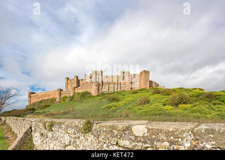 Bamburgh Castle, Bamburgh, Northumberland, England, UK - Stock Photo