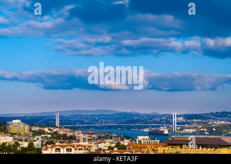 Clouds passing over the Bosphorus - Stock Photo