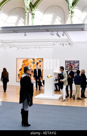 Contemporary Art International Fair  of Paris, France - Stock Photo