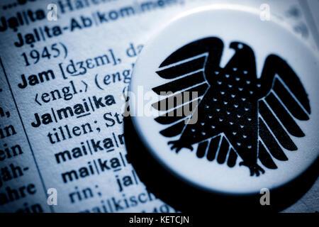 Coalition of Christian Democrats, Free Democrats and Greens in Germany, symbolic photo - Stock Photo